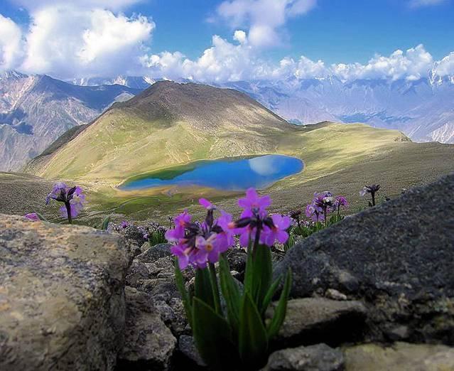 A-Rush Lake near Gojal Pass, Pakistan