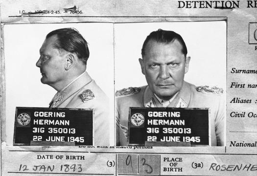 Hermann Goering Mug shot
