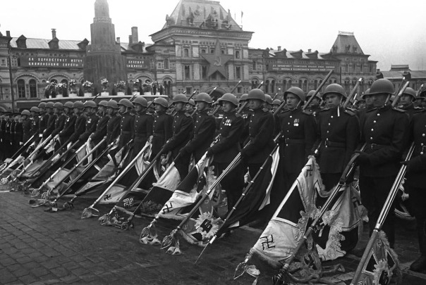 Soviet Soldiers lowered Nazi Flags