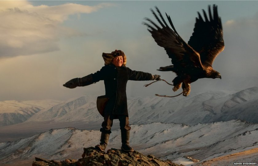 A 13 Year Old Eagle Huntress from Mongolia