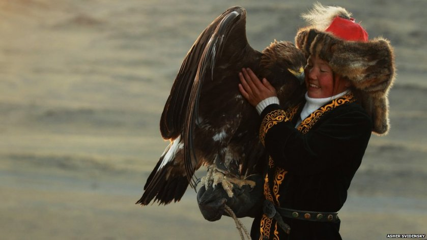 The Huntress with her Eagle