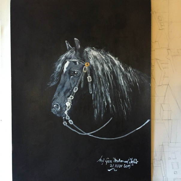PAINT black horse copy
