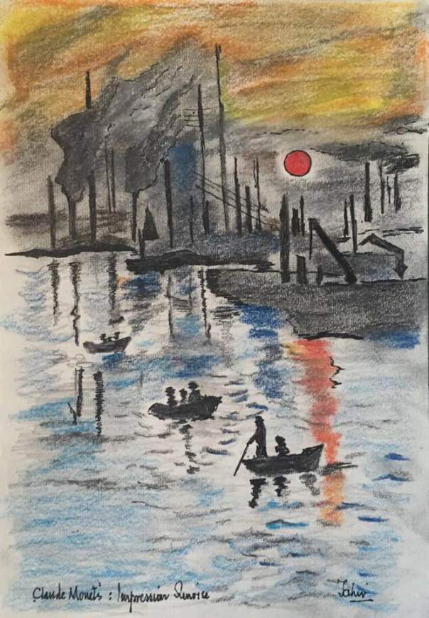 PASTEL and Pencil Claude Monet