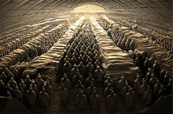 A TERRACOTTA Warriors